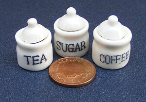 1-12-Scale-Set-Of-3-Ceramic-Kitchen-Storage-Containers-Tumdee-Dolls-House