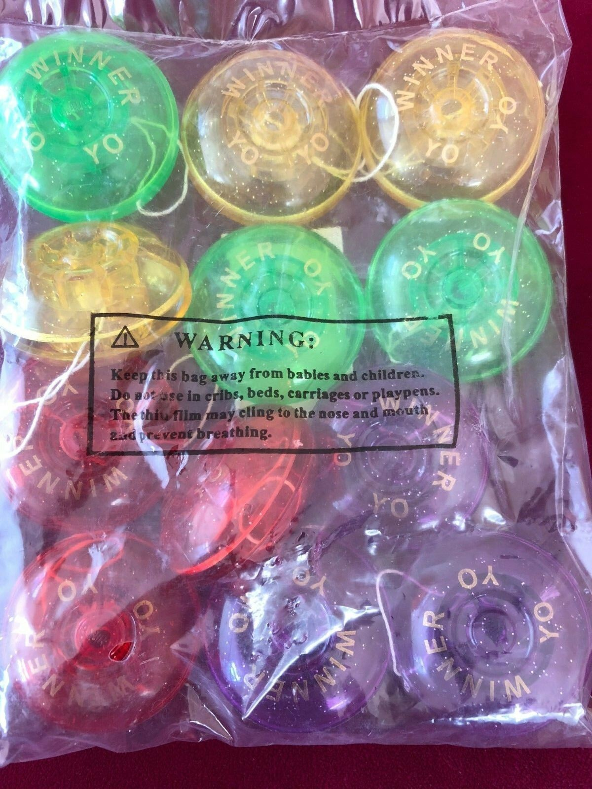 12 YOYO'S New in Sealed Bag. Full Size YOYO'S Mixed colors