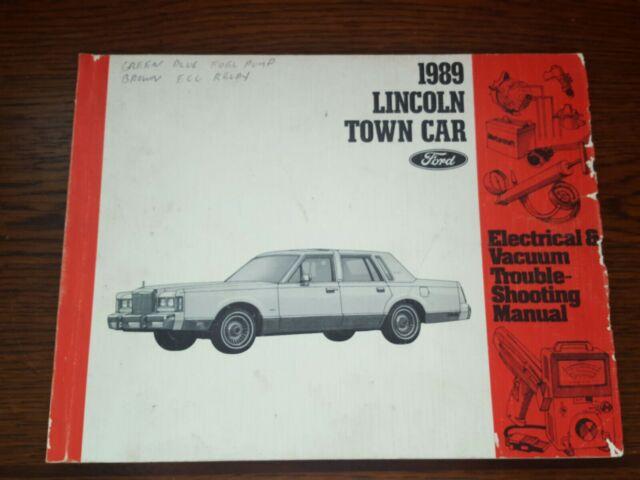 Oem 1989 Lincoln Town Car Sedan Electrical Wiring  U0026 Vacuum Diagram Manual
