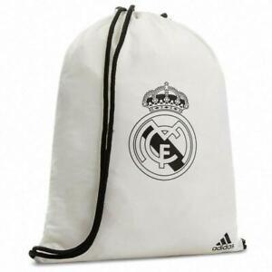 New-adidas-Real-Madrid-Drawstring-Gym-Bag-Sack-White-swimming-sports-Gym-shoes