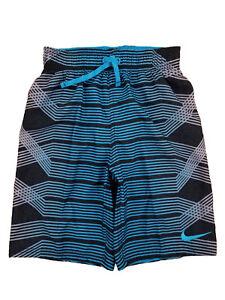 c2b18f127e Image is loading Nike-Boys-Black-amp-Blue-Striped-Swim-Trunk-