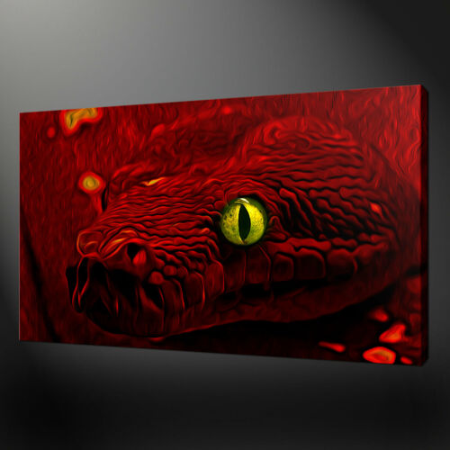 RED SNAKE ABSTRACT CANVAS PRINT PICTURE WALL ART HOME DECOR FREE DELIVERY