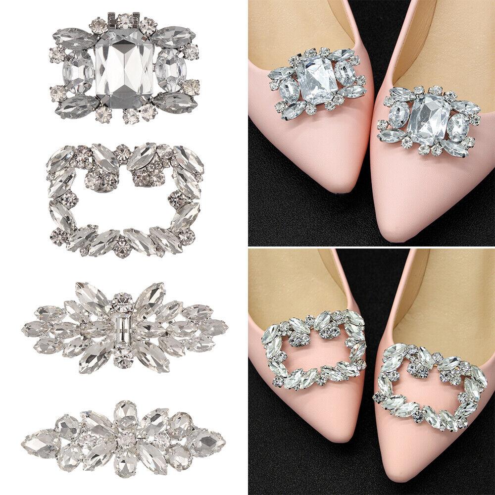 High Heel Shoe Clip Shiny Decorative Clips Charm Buckle Shoe Decorations