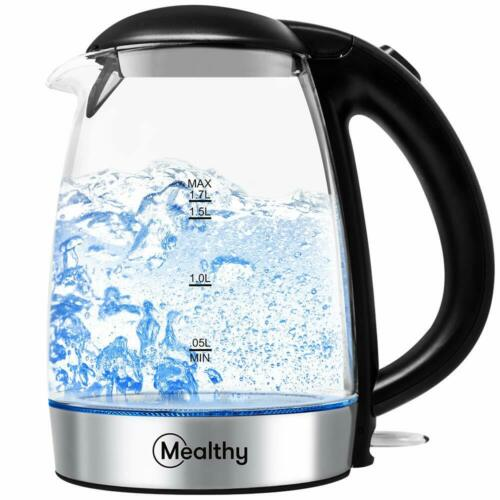 Mealthy MEALTHYKETTLE 1.7L Glass Electric Home Tea Boiler Kettle with LED Light