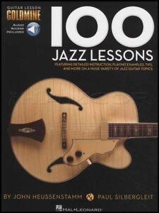 Adaptable 100 Jazz Leçons Guitar Tab Book/audio écailles Modes Arpèges Chords Mettre En Solo-afficher Le Titre D'origine MatéRiau SéLectionné
