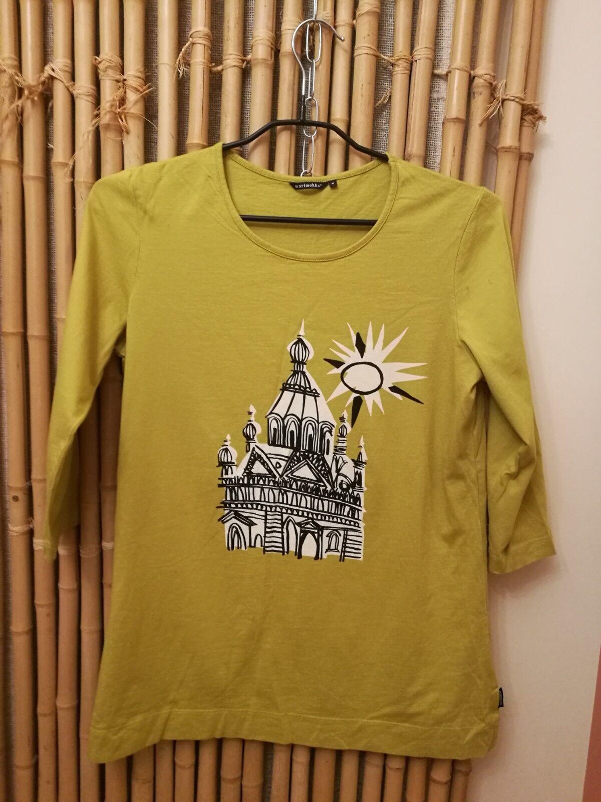 Women t-shirt Marimekko size M 100% cotton made in Portugal