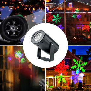 Details About Christmas Led Laser Projector Snowflake Lights Le Garden Outdoor Decoration