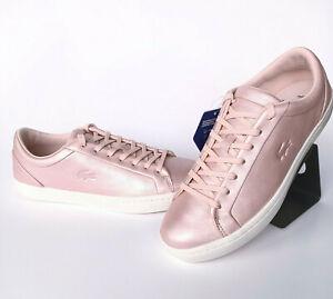 LACOSTE straightset Sneaker da donna Rosa Rose METALLIZZATO TAGLIA 40,5 37cfa0045ts2 sale