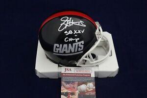 Jeff-Hostetler-Signed-Auto-New-York-Giants-Mini-Helmet-W-SB-XXV-Champ-JSA-WPP