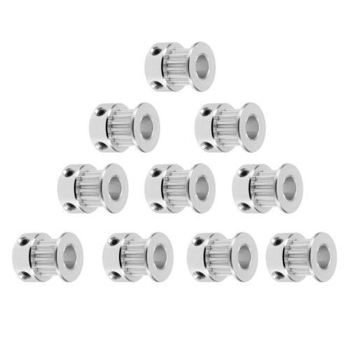 10 x 3D Drucker GT2 Zahnriemenscheibe 16 Zähne Aluminiumbohrung 5mm für