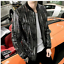 Hot-Mens-Shiny-Sequins-Casual-Nightclub-Singer-Jacket-Slim-Fit-Plus-Size-Coat thumbnail 2