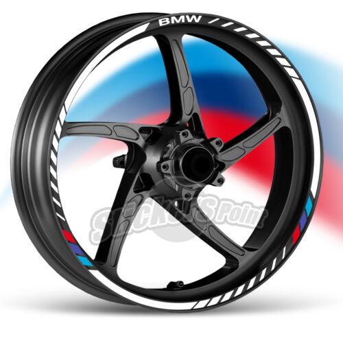 kit Adesivi moto BMW strisce RACING9 cerchi ruote stickers F 650 ST