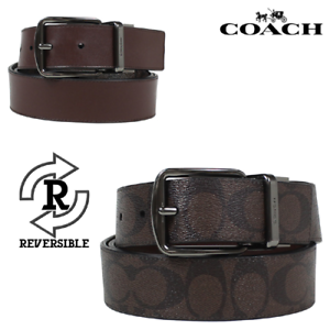 88ff2896fe4b New Authentic Coach F64839 Men Wide Harness Cut-To-Size Reversible ...