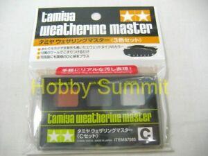 Tamiya 3-color WEATHERING MASTER  Paint Set C   Tank Gun Rust Metal  87085