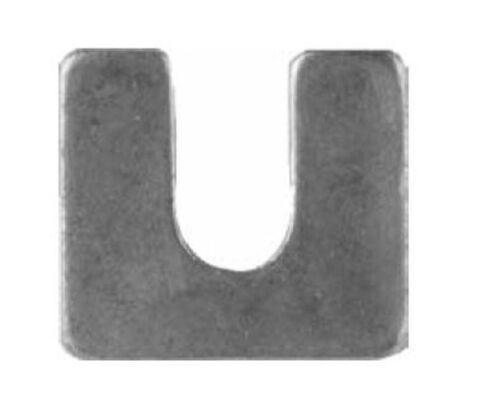 "Steel Body Shims Bright Zinc Finish 1//8"" Thick 3//8"" Slot 1 1//4"" x 1 1//8"" 100//PK"