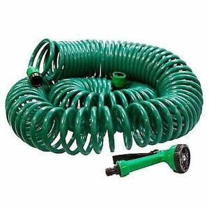 Image is loading 30M-100-ft-Coil-Retractable-Garden-Hose-Pipe-  sc 1 st  eBay & 30M 100 ft Coil Retractable Garden Hose Pipe With Spray Gun 30 metre ...