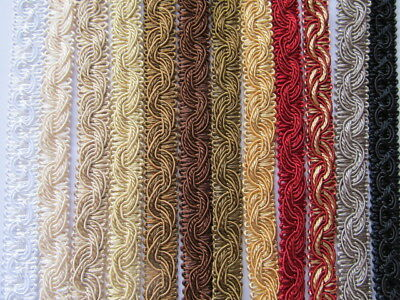 Blinds Lampshades Costumes 16mm Width METRE or WHOLE REEL FURNISHING BRAID