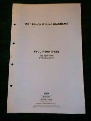 1991 Ford F600 F700 F800 Cab Truck Electrical Schematic Wiring Diagram Manual Ebay