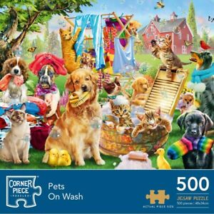 Pets On Wash 500 Piece Jigsaw Puzzle, Toys & Games, Brand New