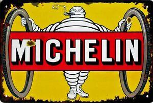 Retro-Blechschild-Vintage-Nostalgie-look-20x30cm-034-Michelin-034-neu
