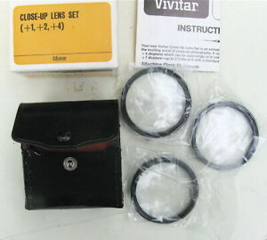 made in Japan Close-Up Lens Set 49mm in original Case New Old Stock +1,+2,+4