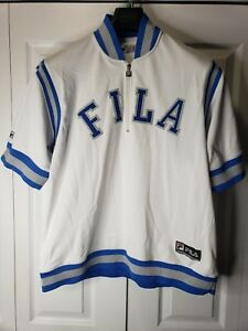 416eed69153 Vintage Fila Spell Out Embroidered Rap Hip Hop Jersey Pullover Half ...