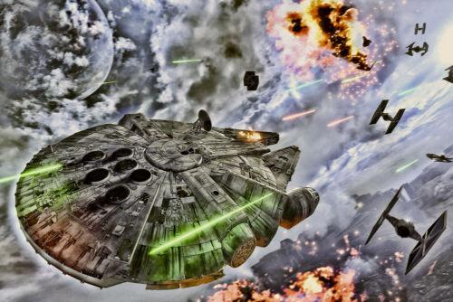 Star Wars Millinium Falcon CANVAS OR PRINT WALL ART