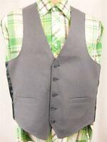 Vintage 70's Mens Blue Pinstripe Waistcoat 38R M Suit Vest Tweed Mod Smart Retro