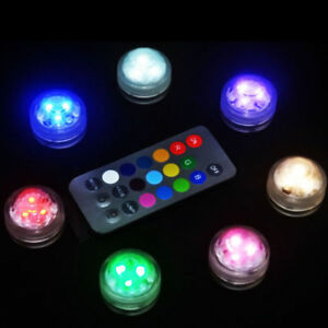 RGB-Sumergible-de-Lampara-Luz-LED-con-Mando-a-Distancia-Multi-color-Decorativa