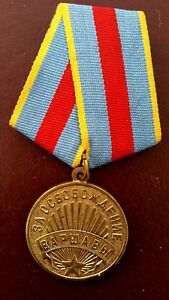 WW2-Russian-Medal-039-For-the-Liberation-of-Warsaw-039-Original