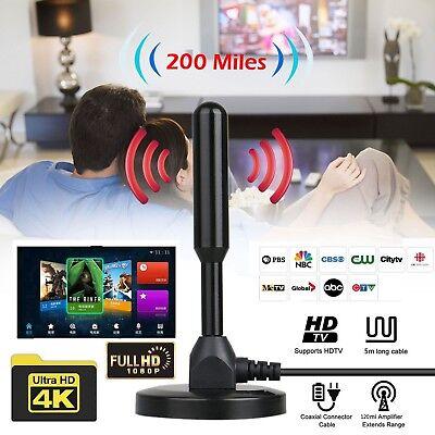 100 Mile 25dBi Aerial Antenna Amplifier Indoor Gain Digital DVB-T DVB-T2 TV HDTV