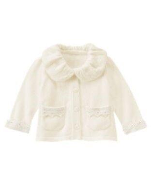 Gymboree NWT Girls Polar Princess Cardigan Hoodie Size 6-12 12-18 /& 18-24 M