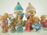 Jumbo Large Baby Shower Nursery Centerpiece Polyresin Dolls Figurines Boy Girl