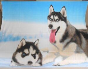 New Soft Winter Husky Siberian Fleece Throw Gift Blanket