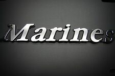 MARINES 3D ABS CHROME FINISH DECAL EMBLEM MARINE CORPS SEMPER FI USMC