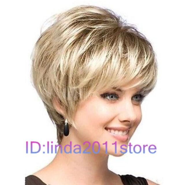 New sexy ladies short Blonde Natural Hair wigs + Free Wig cap NO:246