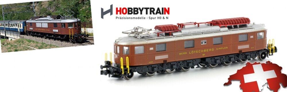 HOBBYTRAIN N 10180 BLS Ae 6/8 8-achsig LOCOMOTIVA ELETTRICA Marrone NUOVO conf.