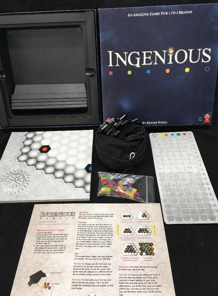 FANTASY FLIGHT GAMES INGENIOUS COMPLETE PRE-OWNED