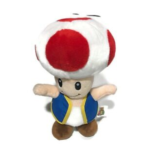 """NWT 6"""" Official Super Mario Toad Plush Stuffed Toy Authentic Licensed. Mushroom."""