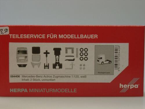 084406-1:120 weiß Herpa 2 Stück Mercedes Actros Zugmaschine TT