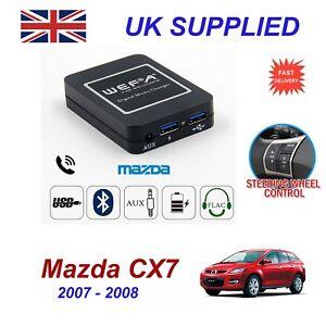 para-MAZDA-CX7-MUSICA-Flujo-Bluetooth-Telefono-Cargador-SD-AUX-CD-DIGITAL