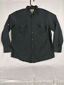 American-Rig-Cie-Men-039-s-Long-Sleeve-Pearl-Snap-Button-Front-Gray-Shirt-Size-2-XL
