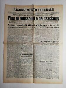 N189-La-Une-Du-Journal-risorgimento-liberale-30-avril-1945-fine-di-mussolini