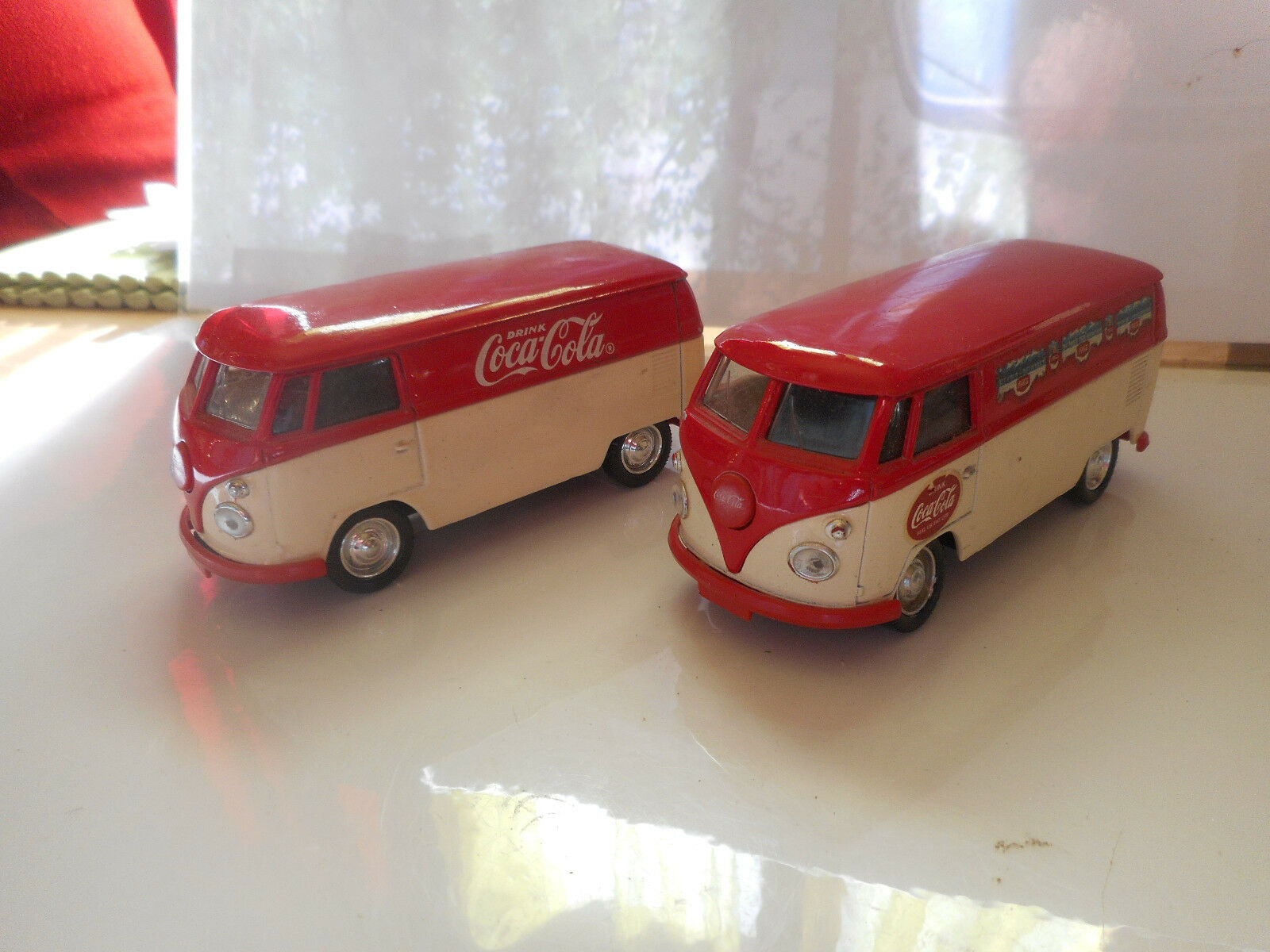 2 VW COMBI  BULLY COCA COLA 1966 1/43 SOLIDO