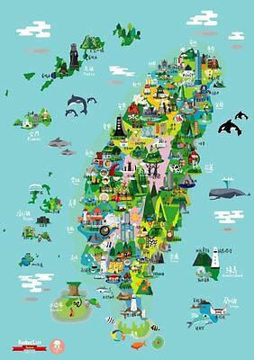 Taiwan Scratch Map limited best gift-small