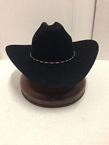801b6088 Stetson Cowboy Hat 6X Beaver Fur Black York-Free Brush+Shipping+No ...