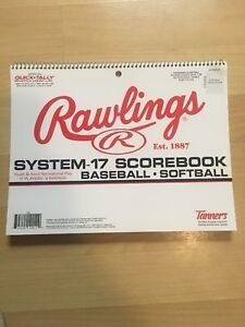 01ac869d6c47 Image is loading Rawlings-System-17-Baseball-Softball-Scorebook-Score-Book-