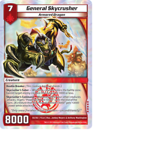 Kaijudo X1 GENERAL SKYCRUSHER Super Raro D2//D2 7CLA Clash Of DUEL Masters 2013