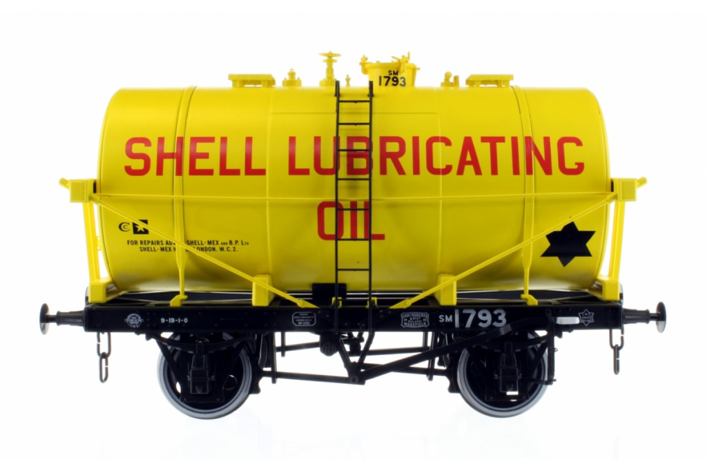 Dapol 7F059008 14t Tank Wagon classe B Shell Lubricating Oil 1793 O Gauge