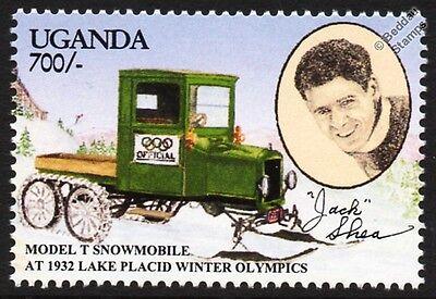 Model T Snowmobile (1932 Lake Placid Winter Olympics & Jack Shea) Car Stamp